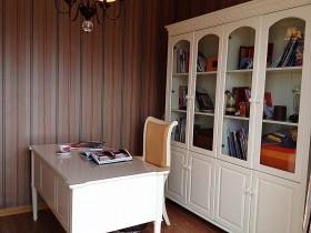 书房书桌书柜装修效果图