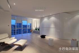 现代装修风格客厅阳台设计效果图