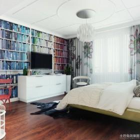 欧式卧室不吊顶设计效果图