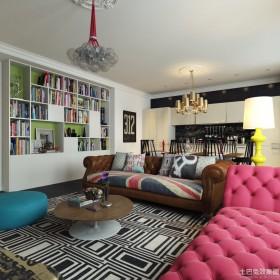 欧式风格客厅书房设计效果图