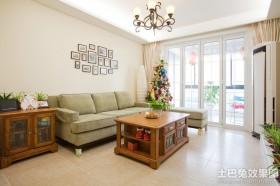 二居客厅沙发照片墙装修效果图