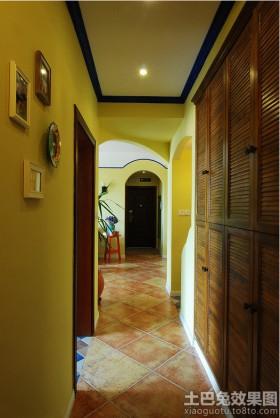 地中海风格走廊装饰效果图片