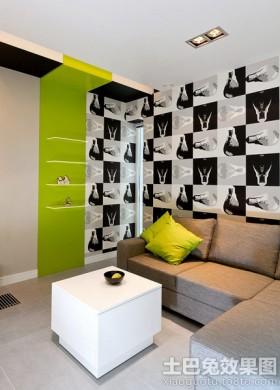 现代风格客厅时尚壁纸图片