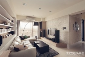 简约50平米小户型客厅装修效果图欣赏