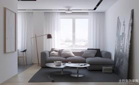 简约风格100平米二居客厅装修效果图欣赏
