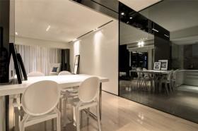 家装餐厅玻璃背景墙装修效果图片欣赏