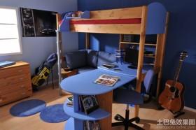 儿童房实木多功能床装修效果图片