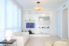 简约小户型客厅电视背景墙图片