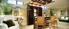 美式田园风格家庭吧台装修效果图