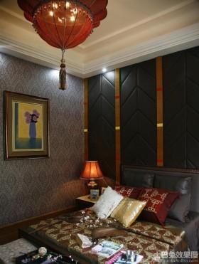 东南亚风格卧室硬包背景墙效果图