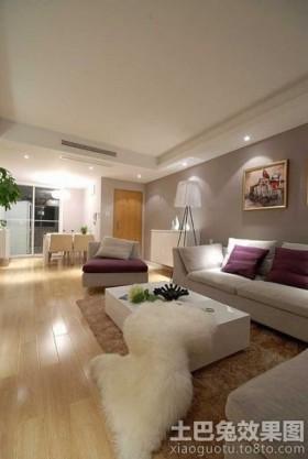 二居客厅沙发背景墙装修效果图2013