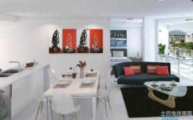 70平米小户型厨房餐厅一体设计效果图