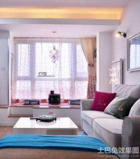 现代90平米二居客厅榻榻米装修效果图