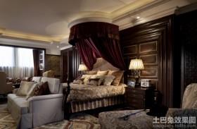 欧式风格卧室床头窗帘设计效果图