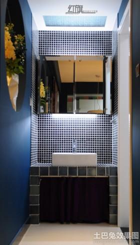 卫生间马赛克背景墙装修效果图片