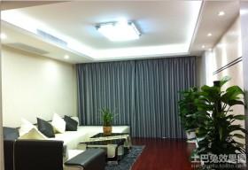 简单家装客厅吊顶灯效果图
