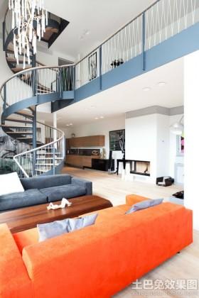 现代复式家装室内设计效果图