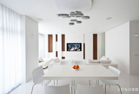 客餐厅嵌入式电视墙效果图