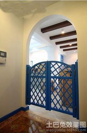 地中海风格厨房门隔断图片