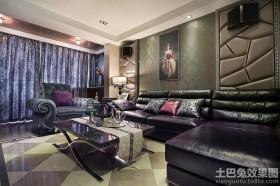 新古典客厅墙纸效果图