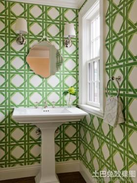 卫生间绿色墙纸图片大全