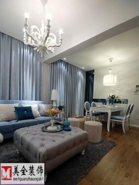 简约风格70平米两室一厅装修效果图