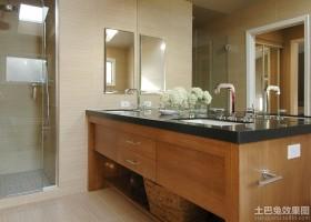 卫生间橡木浴室柜图片
