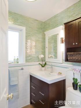 小卫生间橡木浴室柜图片