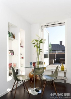 30平单身公寓装修餐厅效果图