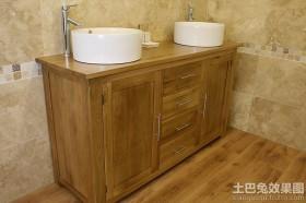 简中式橡木浴室柜图片欣赏