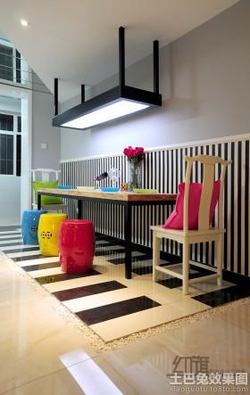 餐厅彩色小圆凳图片