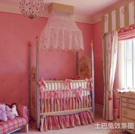 粉色婴儿房间装修效果图