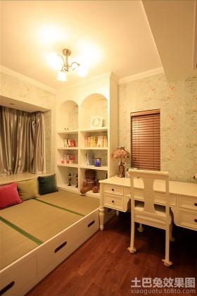 家装书房榻榻米装修效果图片欣赏