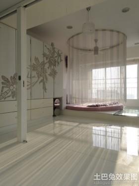卧室榻榻米床流苏装饰效果图
