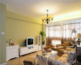 最新田园风格小户型客厅装修效果图
