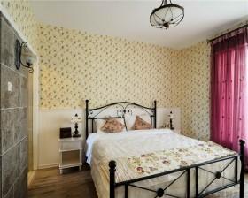 田园风格10平米卧室壁纸装修效果图
