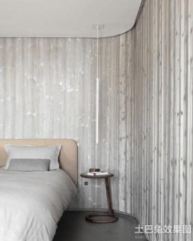 冷色系家居卧室床头椅子图片