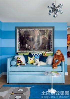 儿童房墙面挂画装饰效果图片