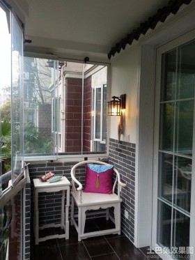 新中式风格阳台装修效果图图片