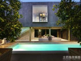 现代别墅游泳池设计图片