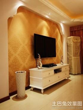 欧式电视背景墙壁纸图片图片