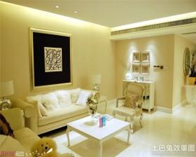 简约欧式两室两厅室内装修效果图