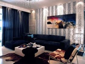 客厅沙发挂画背景墙装饰效果图