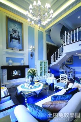 地中海风格别墅客厅电视背景墙效果图欣赏