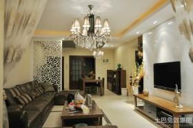 混搭风格80平米小户型客厅电视墙效果图
