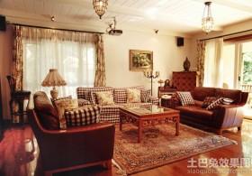 田园风格别墅客厅装修效果图片