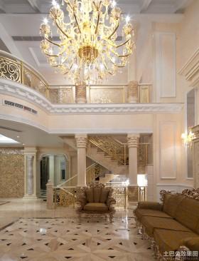 户型欧式风格欧式别墅挑高客厅装修效果图
