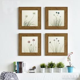 家装线描装饰画效果图
