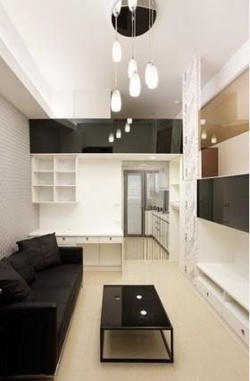 简约风格两室两厅整体客厅效果图