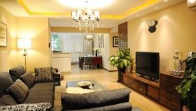 现代客厅实木电视柜装修效果图